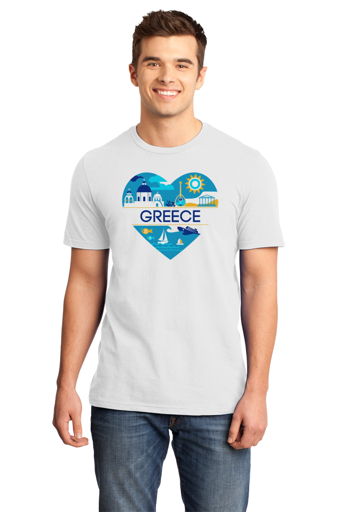 Standard White Greece Love - Greek Heritage History Culture Pride Ancient Cute T-shirt
