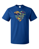 Standard Royal Illinois Love - Illinois Chicago Native Home Heart Cute T-shirt