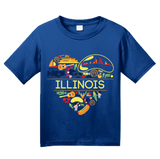 Youth Royal Illinois Love - Illinois Chicago Native Home Heart Cute T-shirt