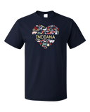 Standard Navy Indiana Love - Indiana Home State Cute Indy 500 Pride Fun T-shirt
