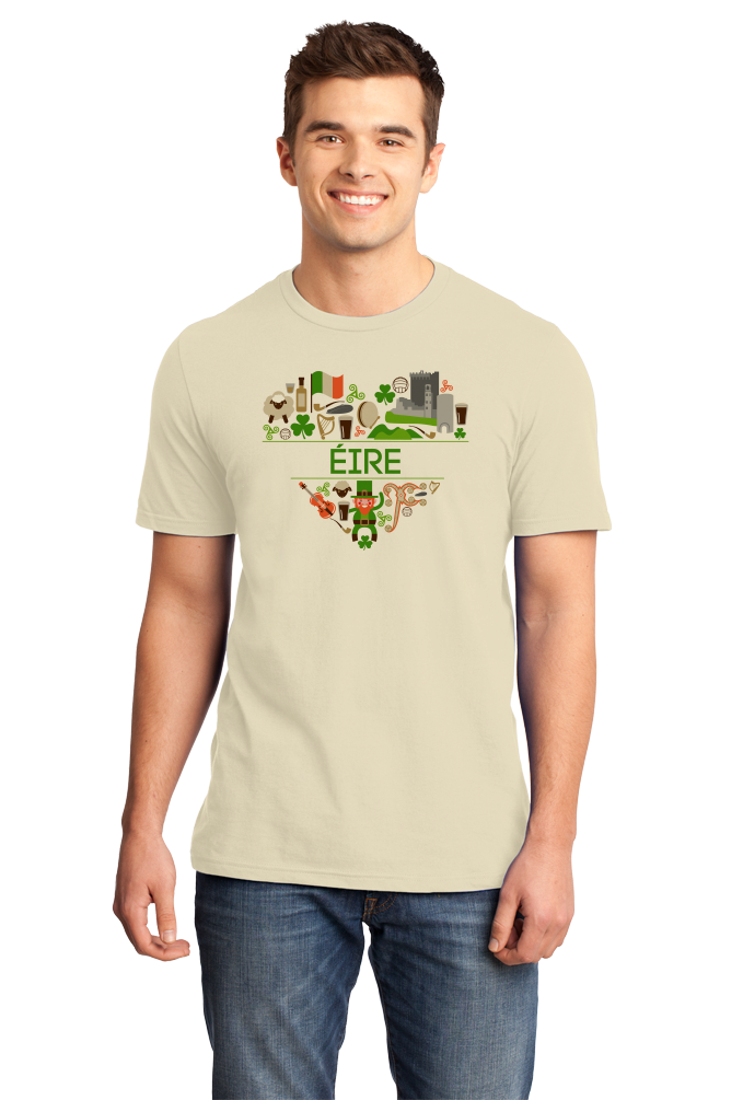 Standard Natural Eire Love - Ireland Irish Heritage Home Pride Culture Cute T-shirt