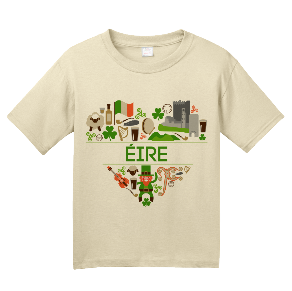 Youth Natural Eire Love - Ireland Irish Heritage Home Pride Culture Cute T-shirt