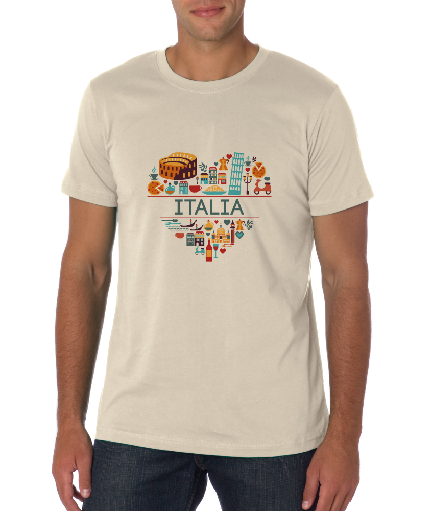 Standard Natural Italia Love - Italian Heritage Pride Culture Cute Icons Gift T-shirt