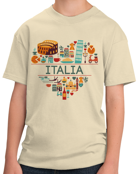 Youth Natural Italia Love - Italian Heritage Pride Culture Cute Icons Gift T-shirt