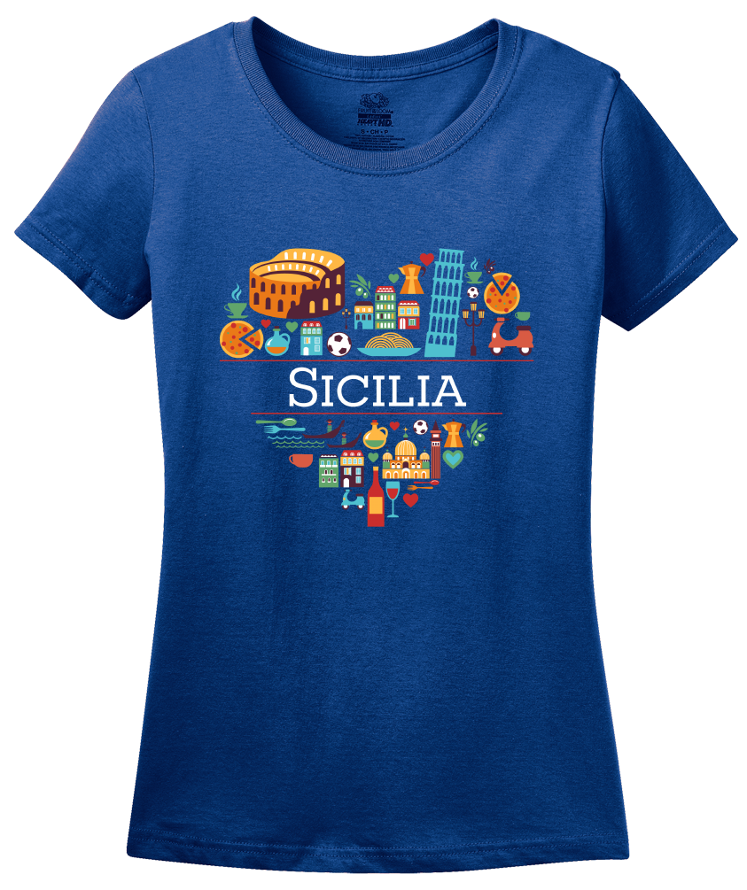 Ladies Royal Italy Love: Sicilia - Italian Sicilian Heritage Pride Cute T-shirt