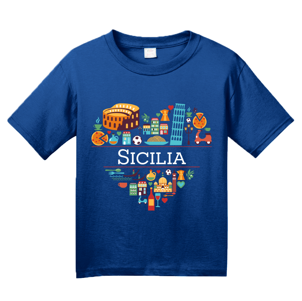 Youth Royal Italy Love: Sicilia - Italian Sicilian Heritage Pride Cute T-shirt