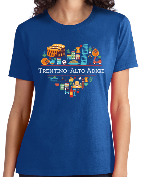Ladies Royal Italy Love: Trentino Alto Adige - Italian Pride Heritage Cute T-shirt