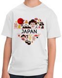 Youth White Japan Love - Japanese Heritage Pride Culture Cute Kawaii Fun T-shirt