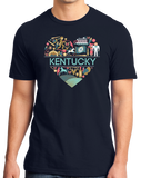 Standard Navy Kentucky Love - Kentucky Pride Bluegrass Banjo Cute Bourbon T-shirt