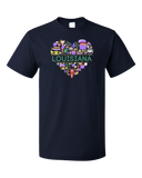 Standard Navy Louisiana Love - Louisiana Pride New Orleans Gumbo Mardi Gras T-shirt