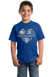 Youth Royal  Massachusetts Love - Mass Pride History Cape Cod Patriots Cute T-shirt