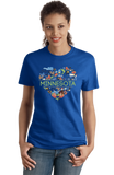Ladies Royal Minnesota Love - MN Pride Paul Bunyan Twin Cities Vikings Cute T-shirt