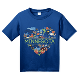 Youth Royal Minnesota Love - MN Pride Paul Bunyan Twin Cities Vikings Cute T-shirt
