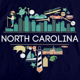 I Love North Carolina | NC Pride Navy art preview