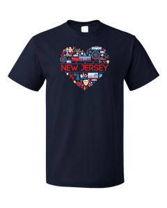 Standard Navy New Jersey Love - NJ Pride The Boss Asbury Park Jersey Shore T-shirt