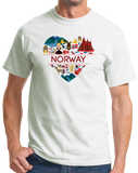 Standard White Norway Love - Norwegian Pride Oslo Bergen Girly Cute Symbols T-shirt