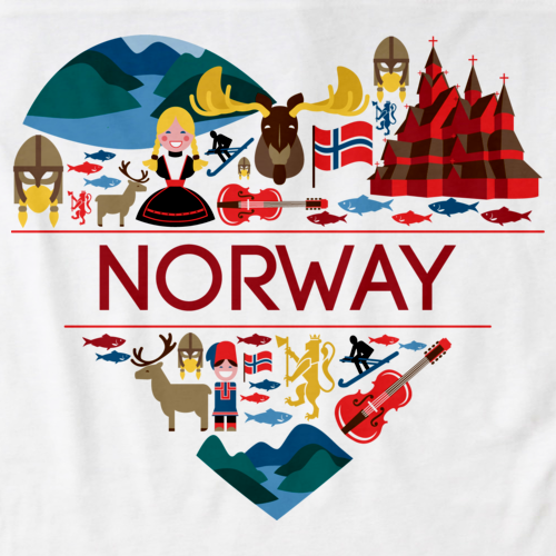 NORWAY LOVE White art preview