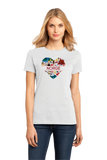 Ladies White Norge Love - Norwegian Heritage Pride Culture Oslo Bergen Cute T-shirt