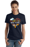 Ladies Navy New York Love - NY Pride NYC Adirondacks Empire State Symbols T-shirt