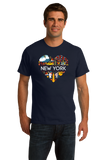 Standard Navy New York Love - NY Pride NYC Adirondacks Empire State Symbols T-shirt