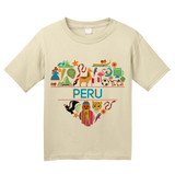 Youth Natural Peru Love - Peruvian Heritage Pride Andes Machu Picchu Icons T-shirt
