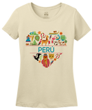 Ladies Natural Peru Love - Peruvian Heritage Pride Andes Machu Picchu Icons T-shirt