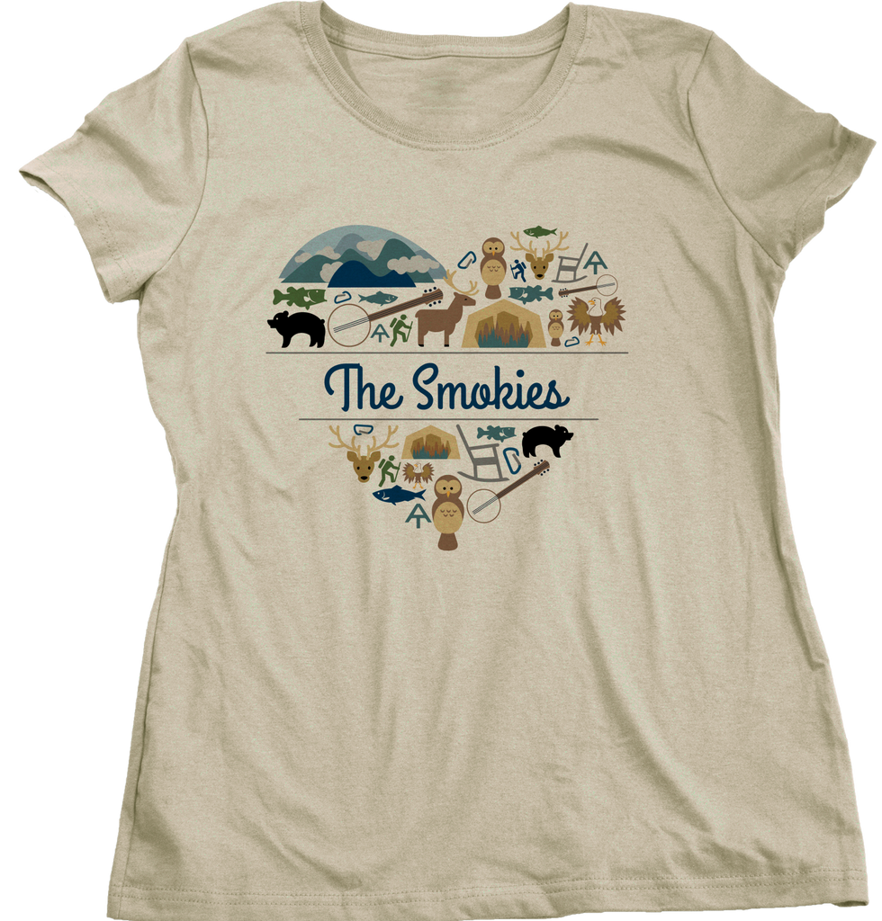 Ladies Natural Smoky Mountains Love - Smokies Tennessee Davy Crockett Culture