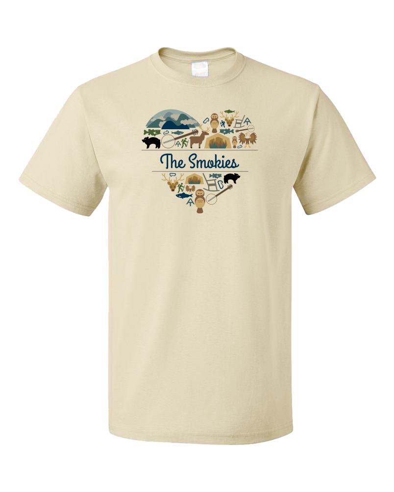 Unisex Natural Smoky Mountains Love - Smokies Tennessee Davy Crockett Culture