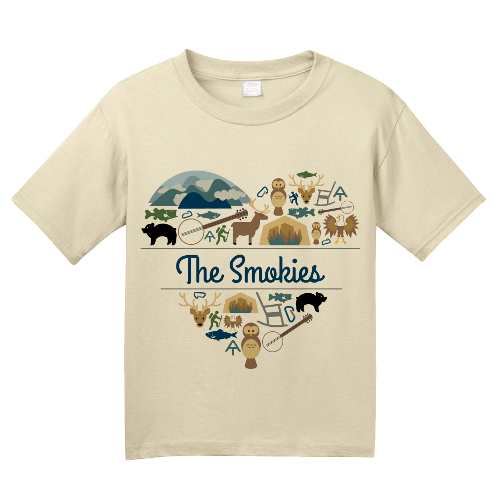 Youth Natural Smoky Mountains Love - Smokies Tennessee Davy Crockett Culture