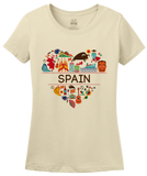 Ladies Natural Spain Love - Spanish Pride Heritage Culture Symbols Cute Fun T-shirt