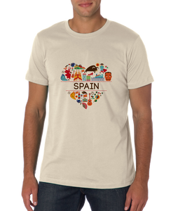 Standard Natural Spain Love - Spanish Pride Heritage Culture Symbols Cute Fun T-shirt