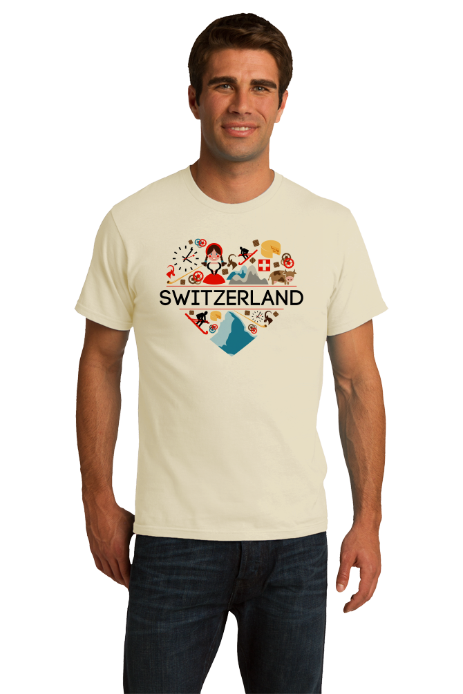 Standard Natural Switzerland Love - Swiss Pride Heritage Culture Alps Zurich Cute T-shirt