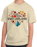 Youth Natural Switzerland Love - Swiss Pride Heritage Culture Alps Zurich Cute T-shirt