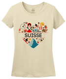 Ladies Natural Suisse Love - Swiss Pride Heritage Culture Alps Zurich Cute T-shirt