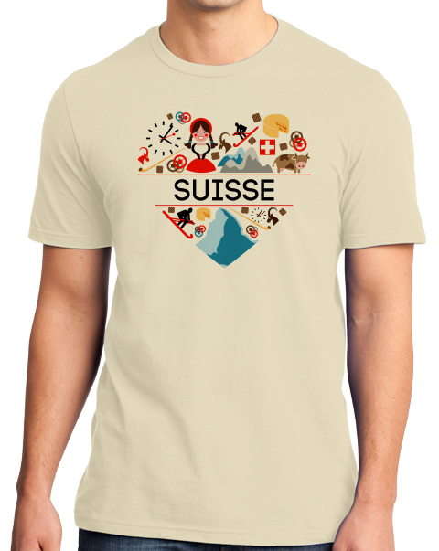 Standard Natural Suisse Love - Swiss Pride Heritage Culture Alps Zurich Cute T-shirt