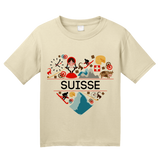 Youth Natural Suisse Love - Swiss Pride Heritage Culture Alps Zurich Cute T-shirt