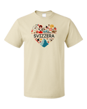 Standard Natural Svizzera Love - Swiss Pride Heritage Culture Alps Zurich Cute T-shirt