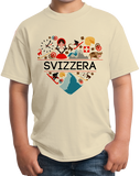 Youth Natural Svizzera Love - Swiss Pride Heritage Culture Alps Zurich Cute T-shirt