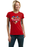 Ladies Red Tennessee Love - TN Pride Culture Nashville Memphis Country T-shirt