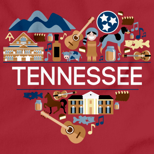 I Love Tennessee | Tn Pride Red Art Preview
