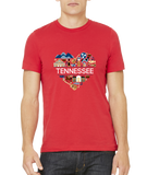 Standard Red Tennessee Love - TN Pride Culture Nashville Memphis Country T-shirt