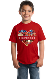 Youth Red Tennessee Love - TN Pride Culture Nashville Memphis Country T-shirt