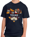 Youth Navy Texas Love - Texan Pride Lone Star State Heritage Culture Alamo T-shirt