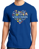 Standard Royal Wisconsin Love - WI Pride Culture Cheese Madison Cute Icon T-shirt