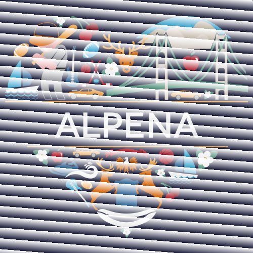 Alpena Icon Heart - Michigan Love Pride Heritage Culture Cute