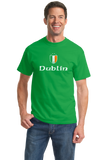 Standard Green Dublin, Ireland Shield - Eire Irish Pride Heritage James Joyce T-shirt