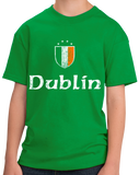 Youth Green Dublin, Ireland Shield - Eire Irish Pride Heritage James Joyce T-shirt
