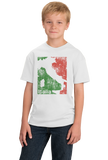 Youth White Italia Silhouette - Italy Italian Map Pride Heritage Gift T-shirt