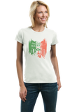 Ladies White Italia Love - Italian Heritage Pride Culture Cute Icons Gift T-shirt