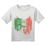Youth White Italia Love - Italian Heritage Pride Culture Cute Icons Gift T-shirt